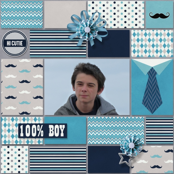 Oh boys! d'Ilonkas scrapbook designs