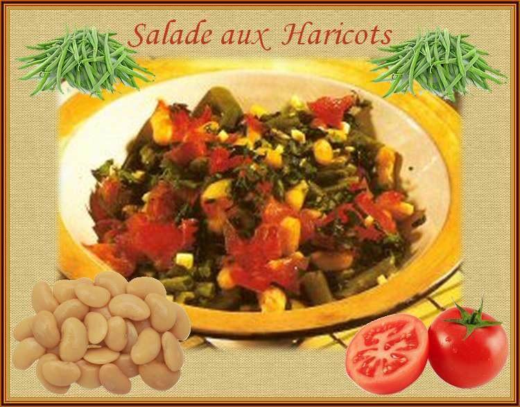 Recette de Cuisine : Salade aux haricots