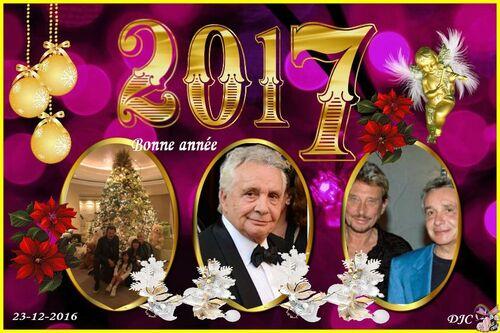 Créa Johnny et Michel - Joyeux noël - Bonne année 2017