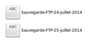 Script de sauvegarde sur FTP