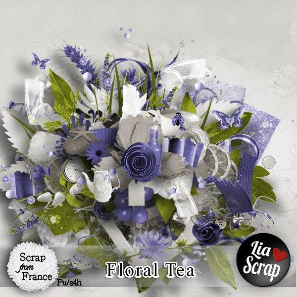 """Kit """"floral tea"""" par Lia Scrap"""
