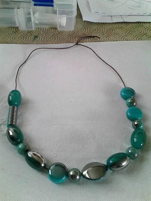 creations colliers vert