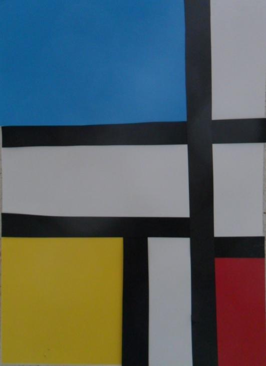 Variations Abstraites En Jaune Rouge Bleu Mitsouko A L Ecole