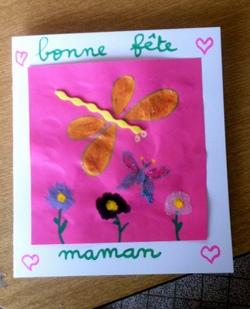 Carte, cadeaux pour la fête des mères et la fête des pères