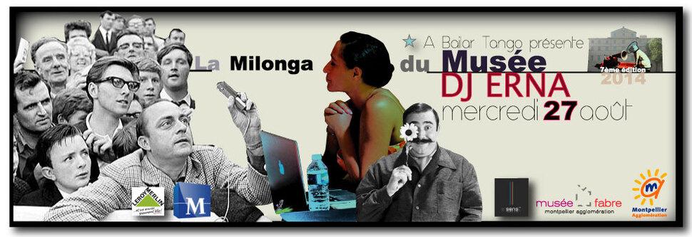 ★ Demain mercredi 27 août, DJ ERNA à la Milonga du Musée ★