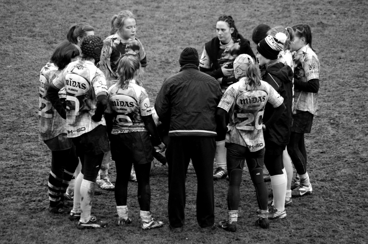 Rugby féminin, stade Malleval, décembre 2012