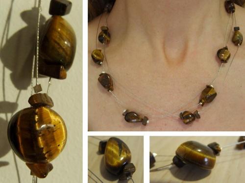 Bijoux en pierres semi précieuses oeil de trigre