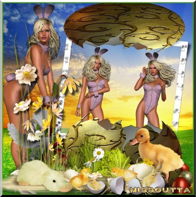 Défi pour cerise déco cluster Pâques