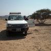 Notre véhicule au Grand Bara