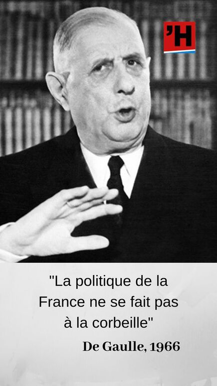 Réponse un peu courte à la question : « Monsieur le président, à quoi attribuez-vous la baisse de la Bourse, alors qu'on dit que l'économie va bien ? — Je dirai un mot de la Bourse, puisque vous m'en parlez. En 1962, elle était exagérément bonne, en 1966, elle est exagérément mauvaise. Monsieur, vous savez, la politique de la France ne se fait pas à la corbeille. » #citations #citation #histoire #bourse #économie #finance #DeGaulle