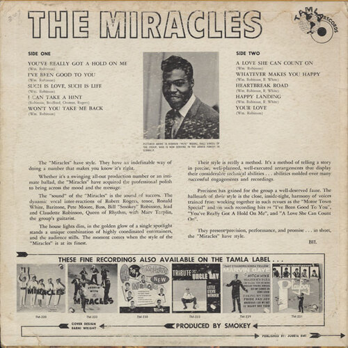 "The Miracles : Album "" The Fabulous Miracles "" Tamla Records TM 238 [ US ]"