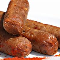 Saucisses de style chorizo fumé