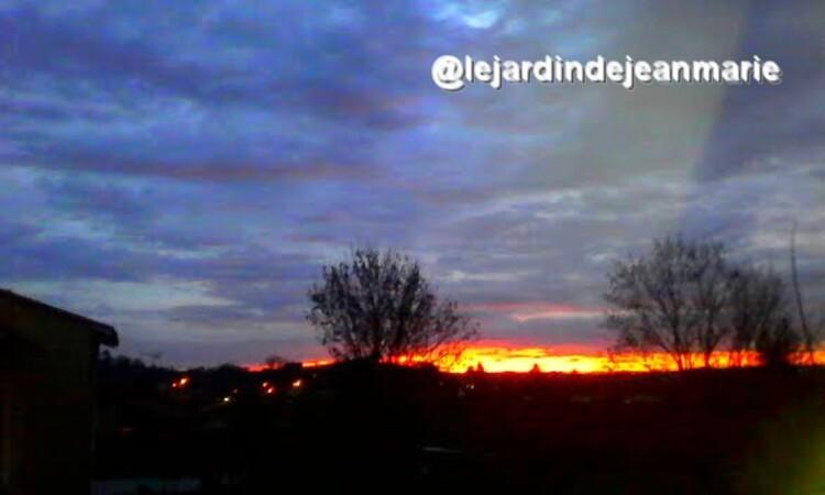 coucher de soleil janvier 2016
