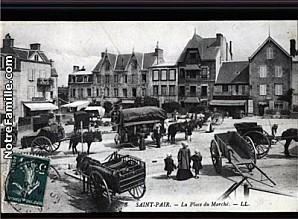 cartes-postales-photos-LA-place-du-Marche-ST-PAIR-SUR-MER-5
