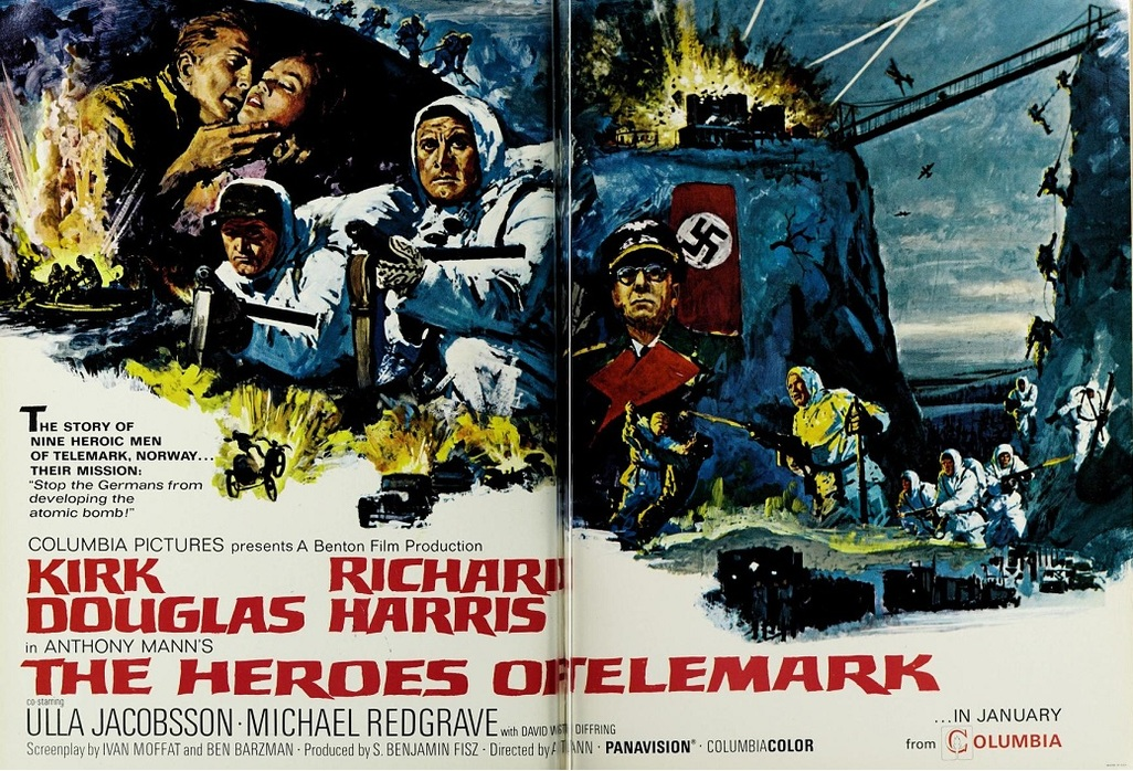 THE HEROES OF TELEMARK BOX OFFICE USA 1966
