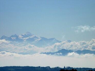 Le Mont-Blanc vu du Montrond