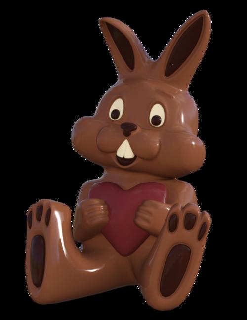 Tubes lapin en chocolat de pâques (image-render)