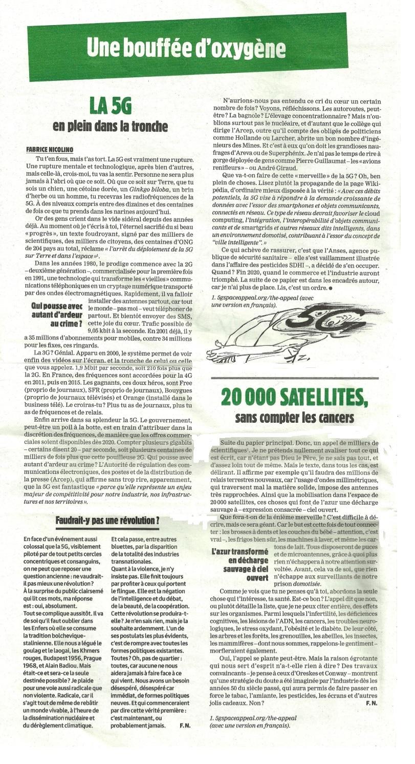 Charlie Hebdo du 11 décembre 2019 : La 5G en plein dans la tronche