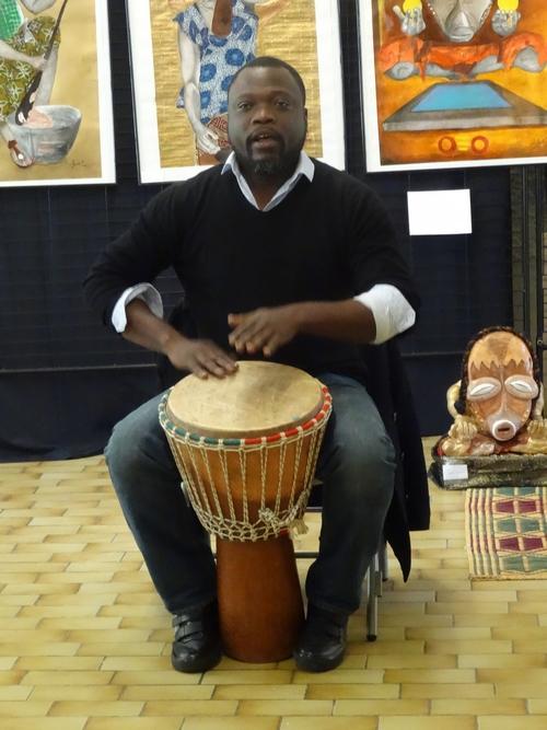 """Le beau vernissage du Festival """"Cultures sans frontières"""" de l'Association Châtillon-Scènes..."""
