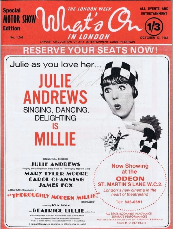 THOROUGHLY MODERN MILLIE BOX OFFICE USA 1967