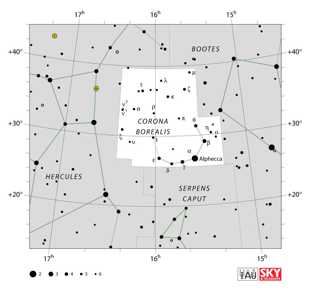 corona borealis map