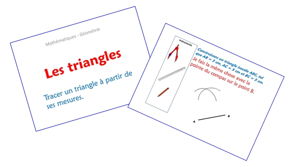 Les triangles (diaporamas)