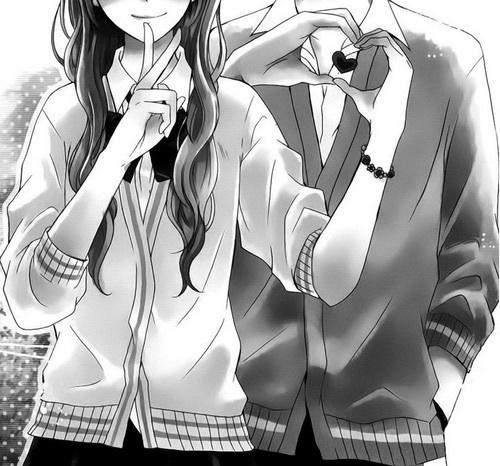 Image de love, anime, and couple