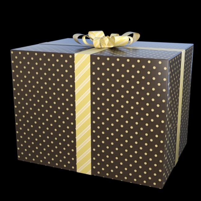 Tube de cadeau de Noël (render-Image)