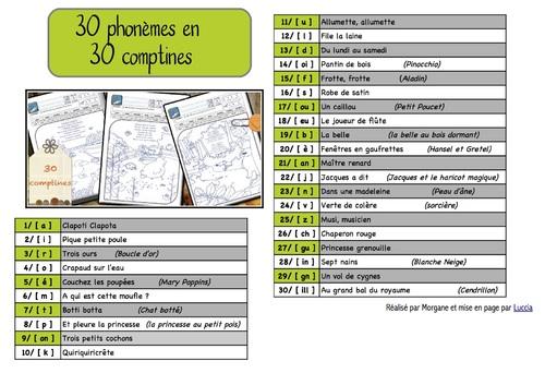 30 phonèmes en 30 comptines