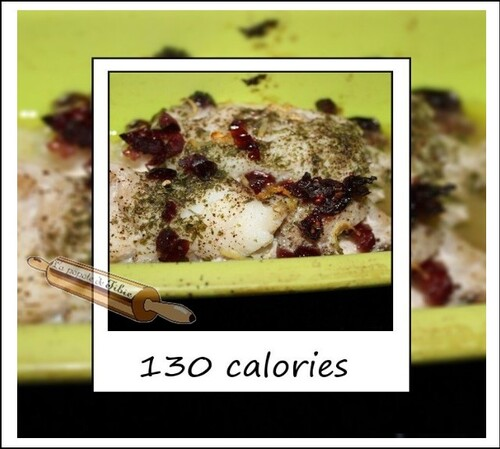 Cabillaud citron & cranberrys en papillote