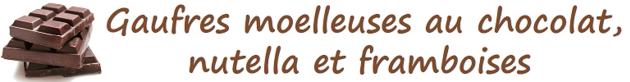 Gaufres moelleuses au chocolat, nutella et framboises