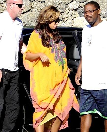 Beyonce en jaune Sexy à Miami