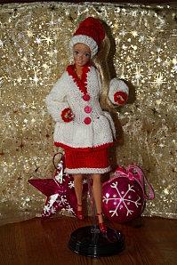 barbie en tenue de noel