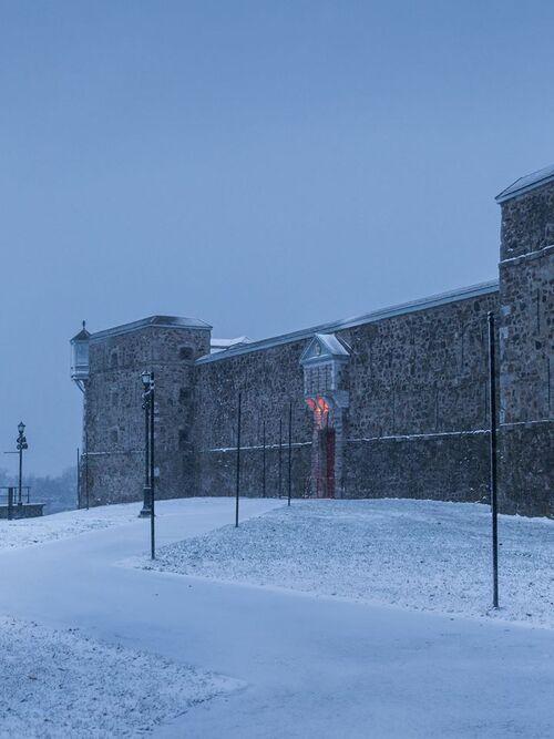 Le fort Chambly dans la neige