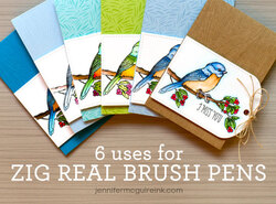 Feutres pinceaux aquarellables (zig clean color real brush)