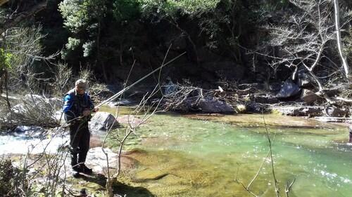 Initiation de la pêche au toc pour Vincent
