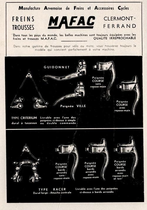 Réclame MAFAC 1952