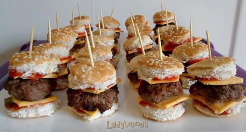 Bouchées d'hamburger...