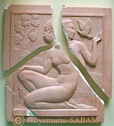 Restauration d'un bas-relief en plâtre - Arts et Sculpture: sculpteur, artisan d'art