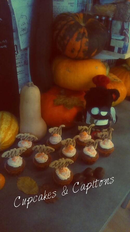 Cupcakes au potiron épicé