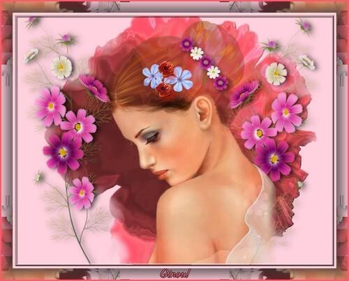 Des fleurs dans les cheveux!