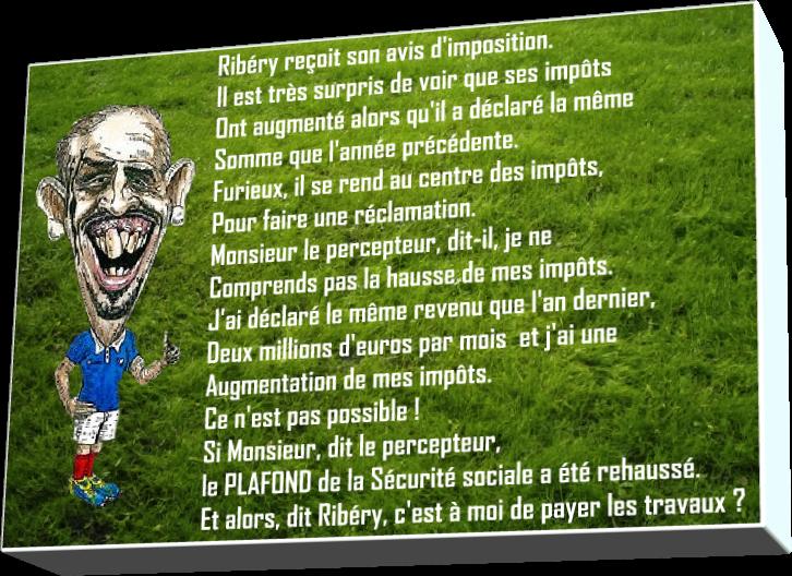 Ribéry chez le percepteur (Humour)