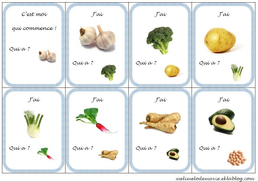 j'ai  qui a? sur les légumes - méli mélo de ma classe