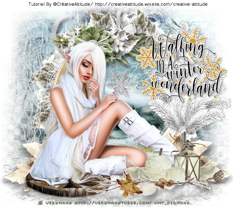 "Tutoriel ""Walking  In A Winter Wonderland"" de Creative Attitude"