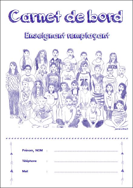 Cahier de bord enseignant remplaçant 2015/2016