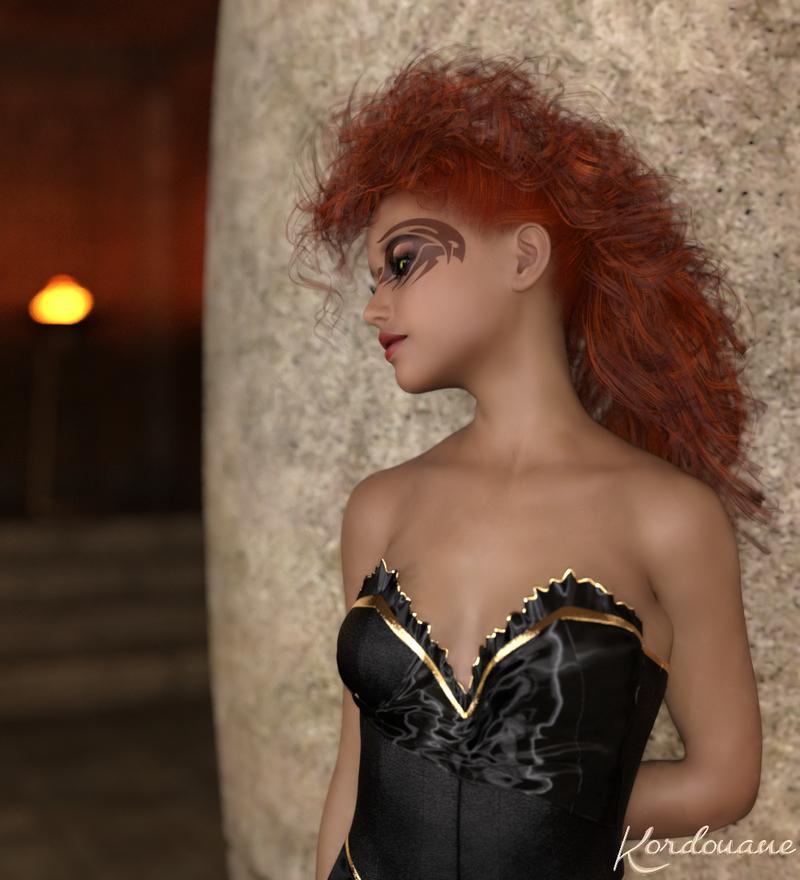 Xanthe rêveuse  (femme fantasy)