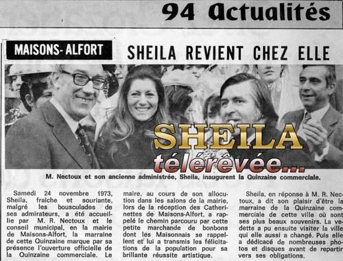24 novembre 1973 : Sheila Star de Maisons-Alfort
