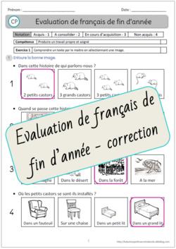 Evaluation de français de fin d'année