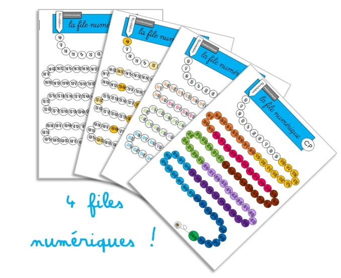 Tableaux de nombres, bandes et files numériques