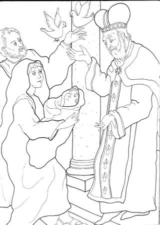 Présentation au temple : Syméon reconnait l'enfant Jésus